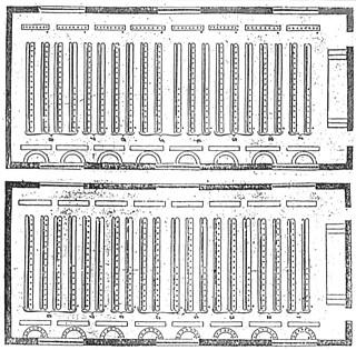 4──ランカスター方式の教室(1810) 点で示された生徒